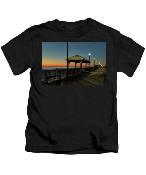 Down The Shore At Dawn Kids T-Shirt