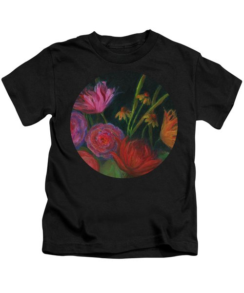 Dramatic Floral Still Life Painting Kids T-Shirt