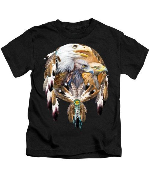 Dream Catcher - Three Eagles Kids T-Shirt