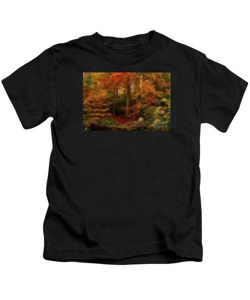 Dreamy Forest Glade In Fall Kids T-Shirt