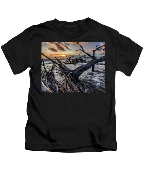 Driftwood Beach 4 Kids T-Shirt