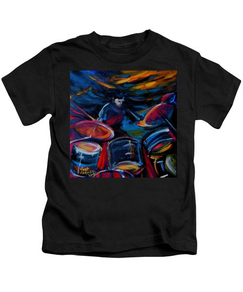 Drummer Craze Kids T-Shirt