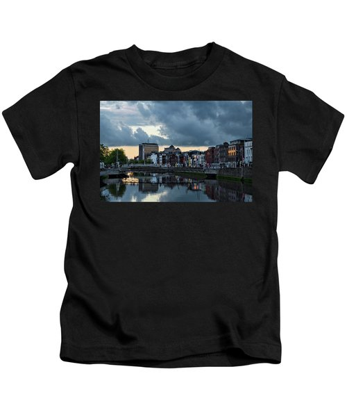 Dublin Sky At Sunset Kids T-Shirt