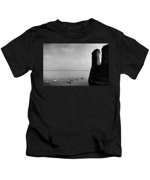 Ducks In Lake Garda, Italy Kids T-Shirt
