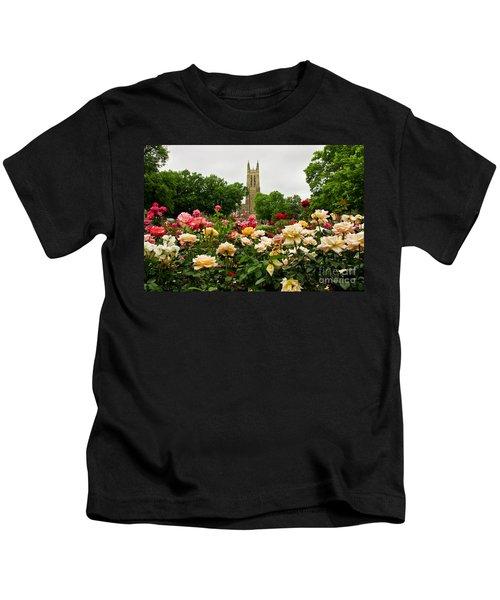 Duke Chapel And Roses Kids T-Shirt