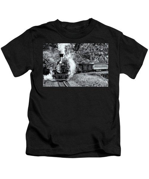 Durango Silverton Train Bandw Kids T-Shirt