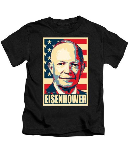 Dwight D. Eisenhower Amercian Propaganda Poster Art Kids T-Shirt