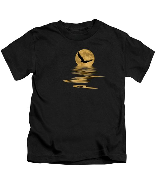 Eagle In The Moonlight Kids T-Shirt