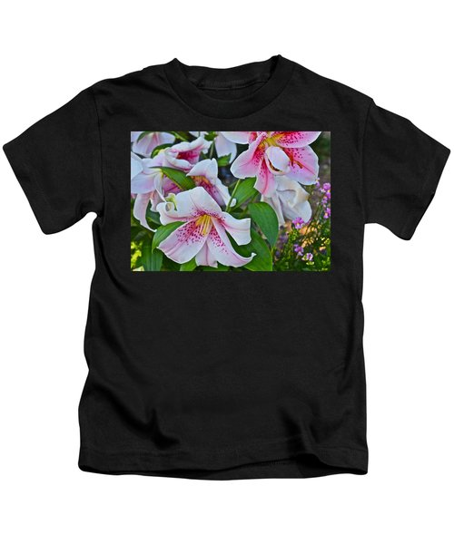 Early August Tumble Of Lilies Kids T-Shirt