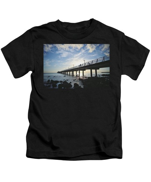 Early Morning At The Pier Kids T-Shirt
