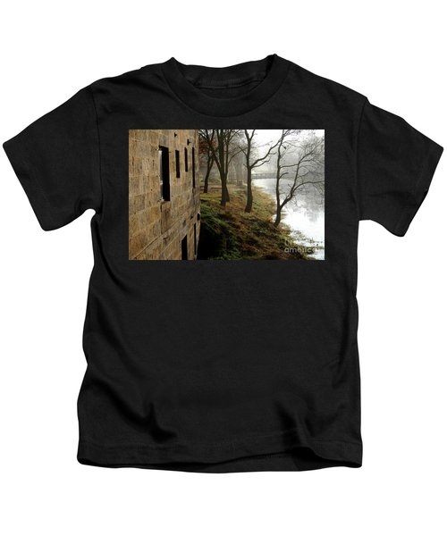 Early Morning Mist On The I  M Canal Kids T-Shirt