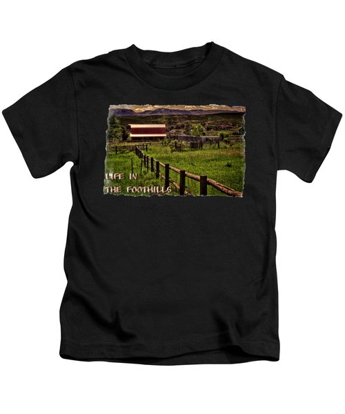 Early Morning Pastures In The Foothills Kids T-Shirt