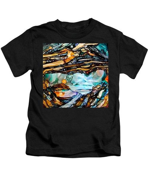 Earth Day Underground Paradise Alcohol Inks Kids T-Shirt