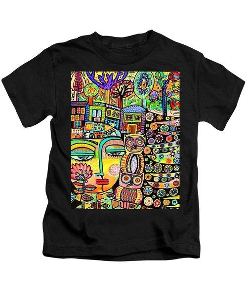Earth Owl Goddess Kids T-Shirt