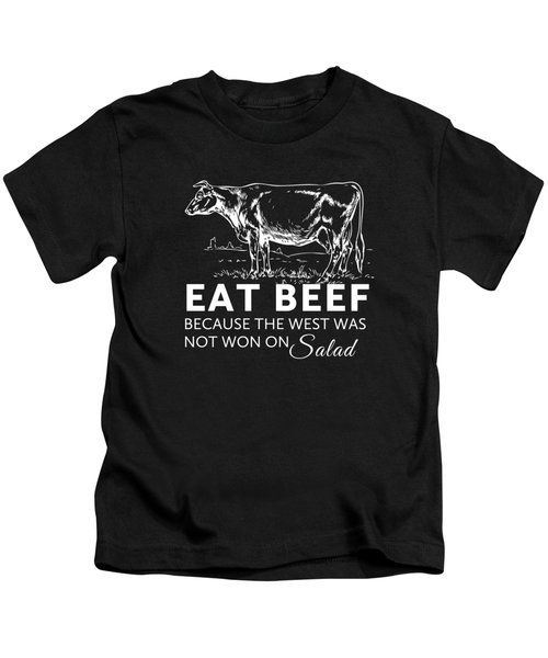 Eat Beef Kids T-Shirt by Nancy Ingersoll