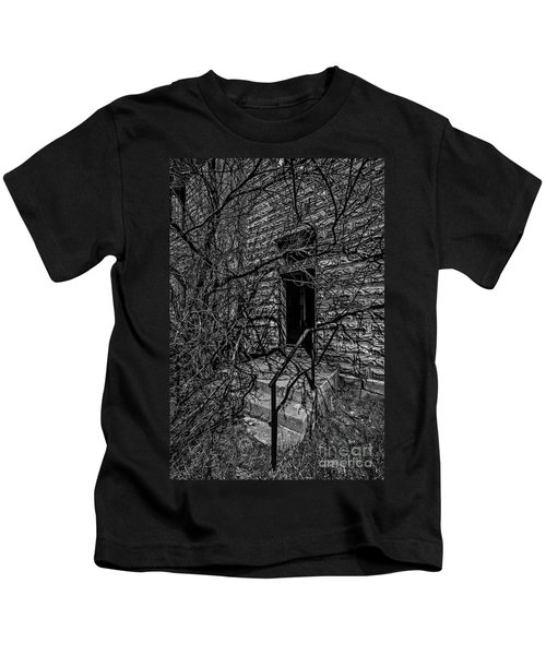 Eerie Entrance To An Old School Kids T-Shirt