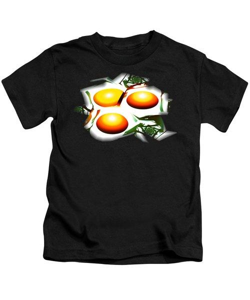 Eggs For Breakfast Kids T-Shirt by Anastasiya Malakhova