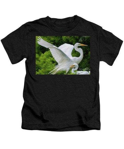 Egret Family Kids T-Shirt
