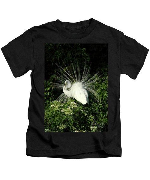 Egret Fan Dancer Kids T-Shirt