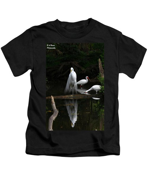 Egret Reflection Kids T-Shirt