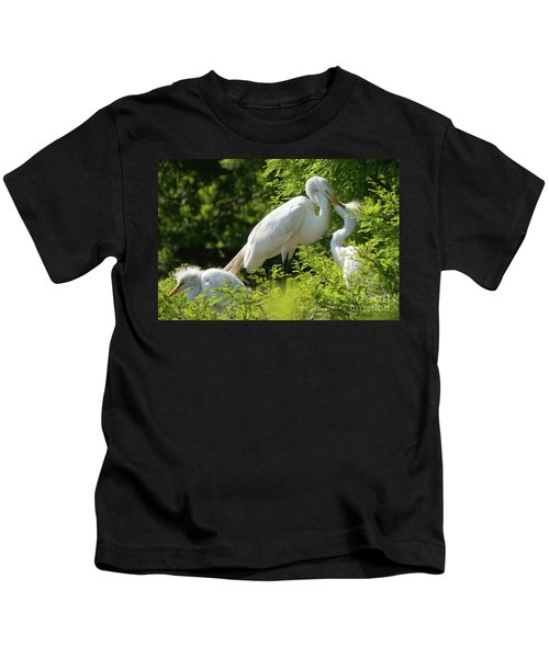 Egrets With Their Young Kids T-Shirt