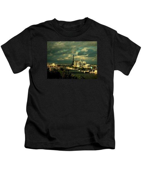 Eiffel Tower Paris France Kids T-Shirt
