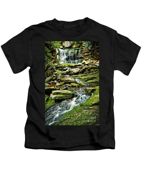 Elakala Falls At Blackwater Falls State Park Kids T-Shirt