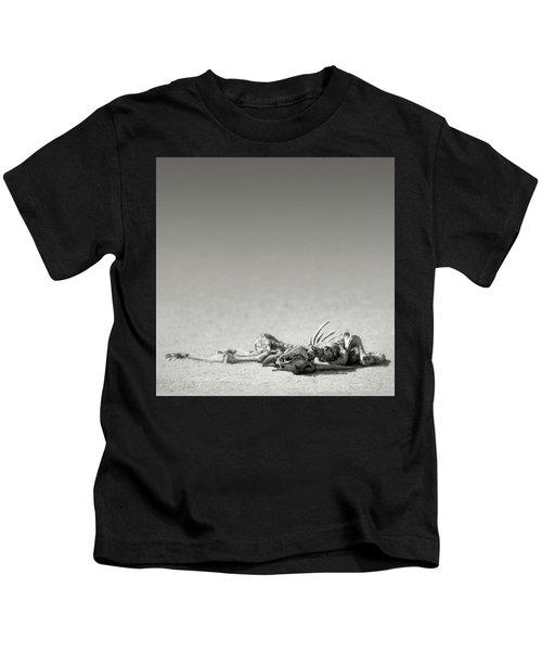 Eland Skeleton In Desert Kids T-Shirt