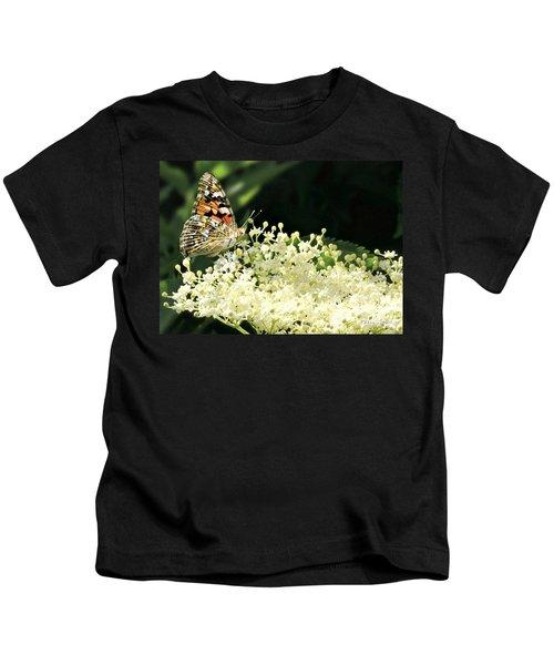 Elderflower And Butterfly Kids T-Shirt