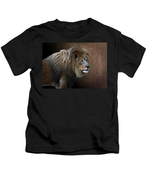 Elderly Gentleman Lion Kids T-Shirt