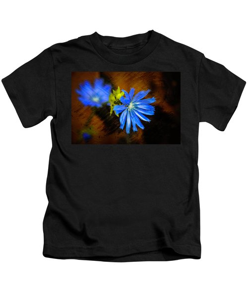 Electric Blue Kids T-Shirt
