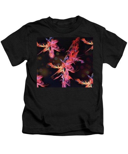 Electric Flowers Kids T-Shirt