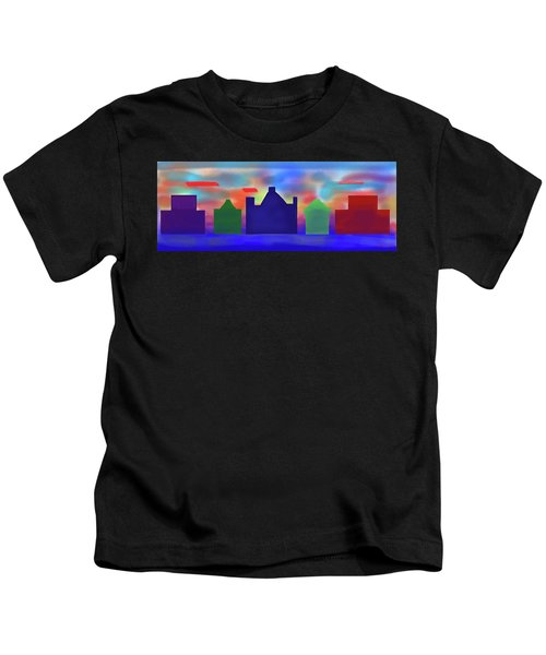 Electric Sunrise Kids T-Shirt