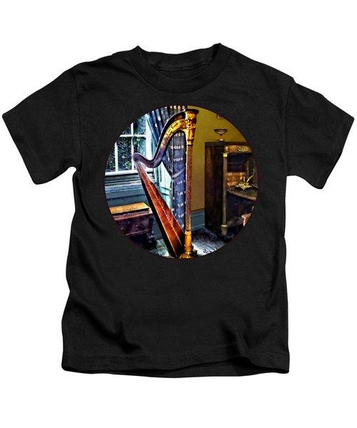 Elegant Harp Kids T-Shirt
