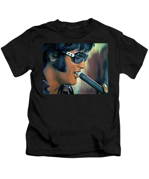 Elvis Presley Art 15 Kids T-Shirt