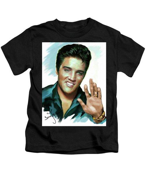 Elvis Presley Art 2 Kids T-Shirt