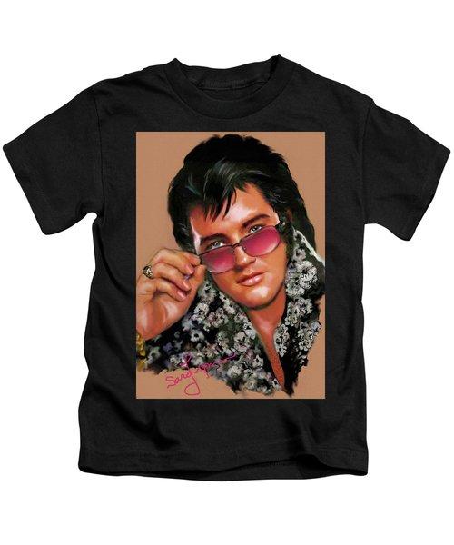 Elvis Presley Art 8 Kids T-Shirt