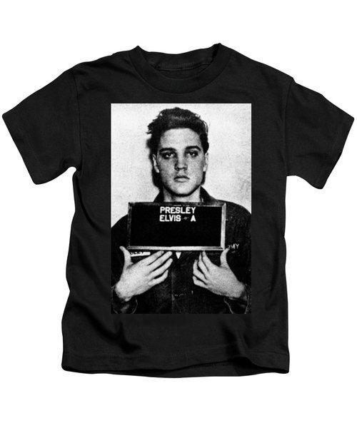 Elvis Presley Mug Shot Vertical 1 Kids T-Shirt