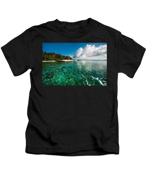 Emerald Purity. Maldives Kids T-Shirt