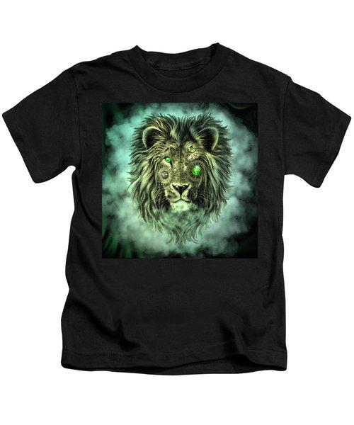 Emerald Steampunk Lion King Kids T-Shirt