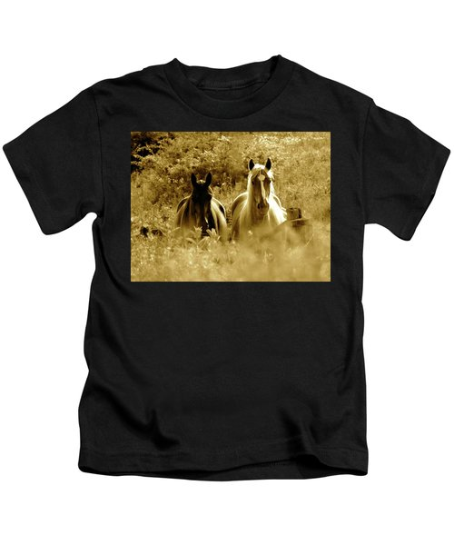 Emerging From The Farm Kids T-Shirt