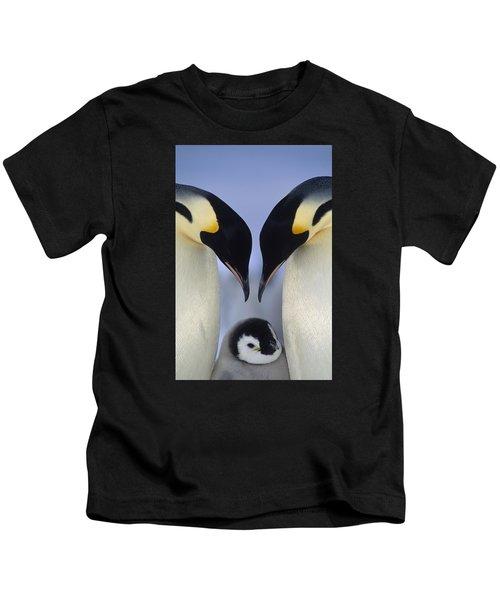 Emperor Penguin Family Kids T-Shirt
