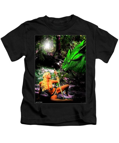 Encounter With A Dragon Kids T-Shirt