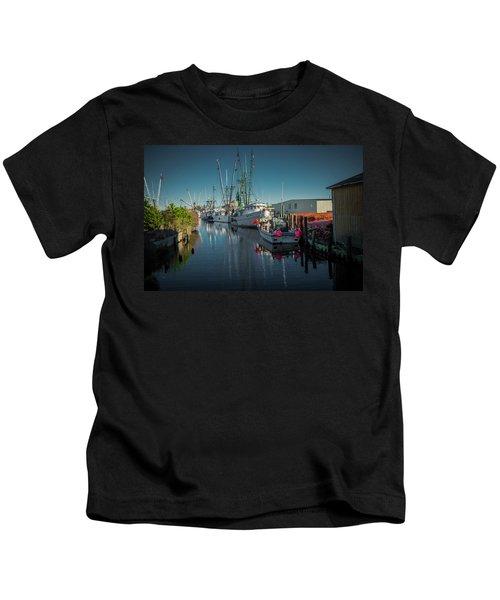 Englehardt,nc Fishing Town Kids T-Shirt