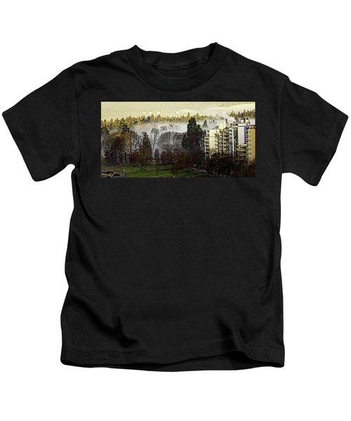English Bay Fog #2 Kids T-Shirt