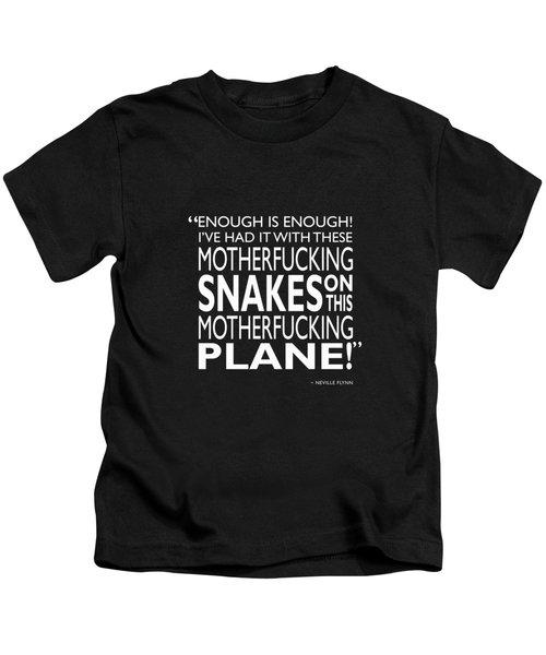 Enough Is Enough Kids T-Shirt by Mark Rogan