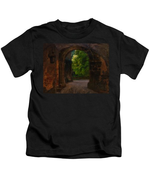 Entrance To The Castle Wiesenburg In The Mark Kids T-Shirt