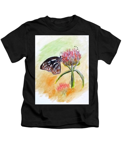 Erika's Butterfly Two Kids T-Shirt