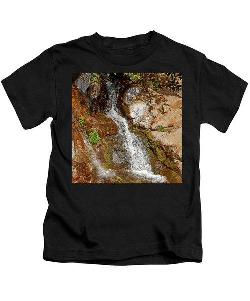 Etiwanda Waterfalls Kids T-Shirt