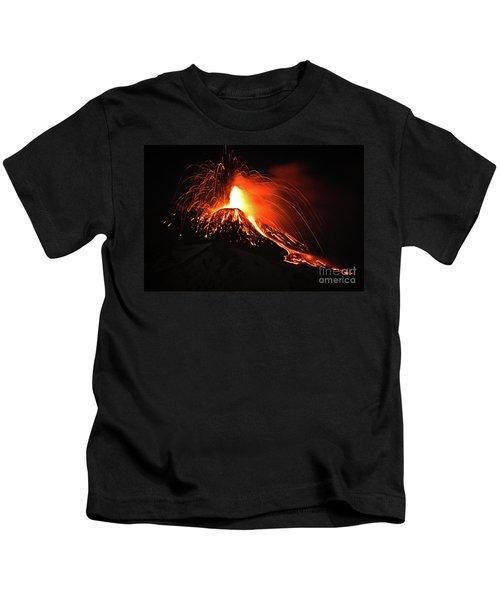 Italy, Sicily,etna Kids T-Shirt